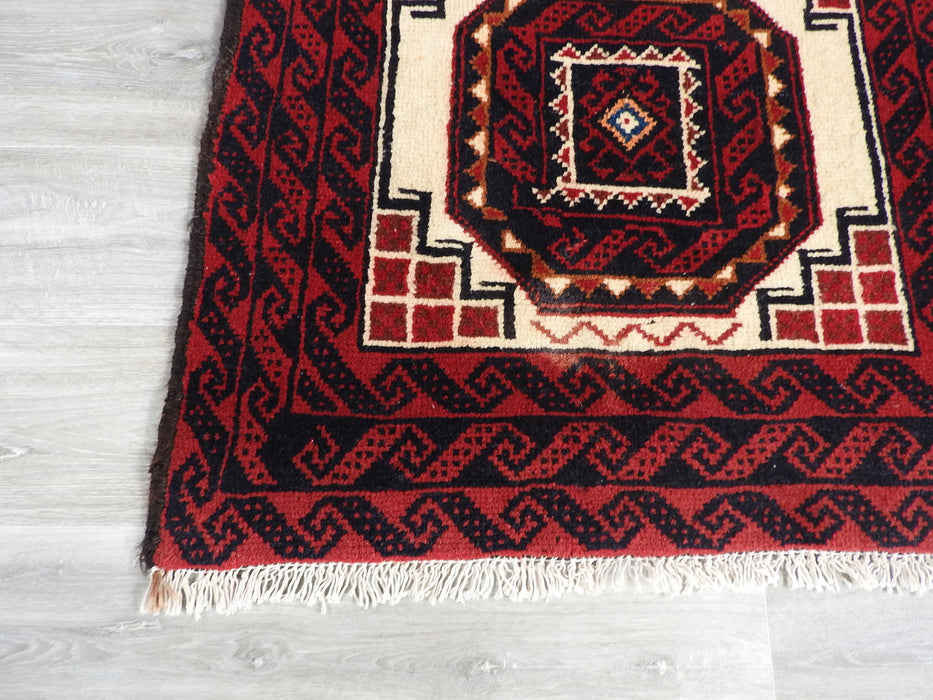 Persian Hand Knotted Baluchi Rug Size: 176 x 90cm