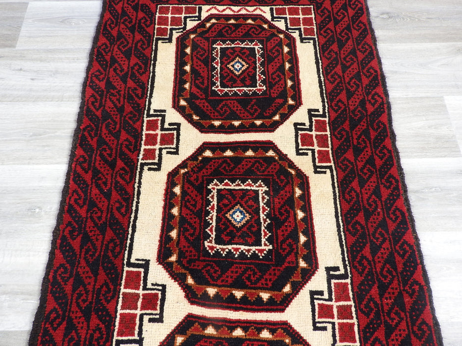 Persian Hand Knotted Baluchi Rug Size: 176 x 90cm-Persian Rug-Rugs Direct