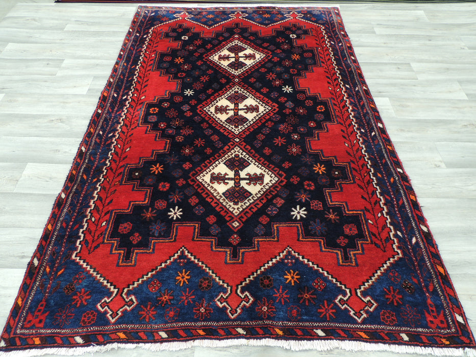 Persian Hand Knotted Sirjan Rug Size: 225 x 140cm-Persian Rug-Rugs Direct
