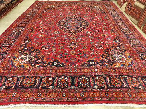 "Persian Hand Knotted ""Dorokhsh"" Mashhad Rug Size: 413 x 313cm-Persian Rug-Rugs Direct"
