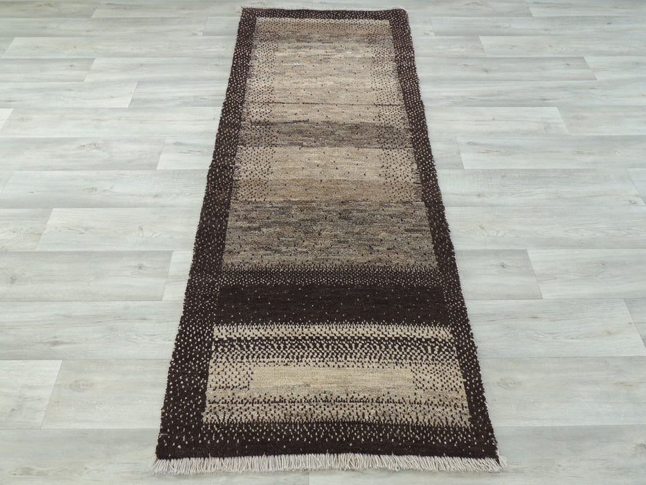 Persian Hand Knotted Gabbeh Rug Size: 72 x 195cm-Persian Rug-Rugs Direct