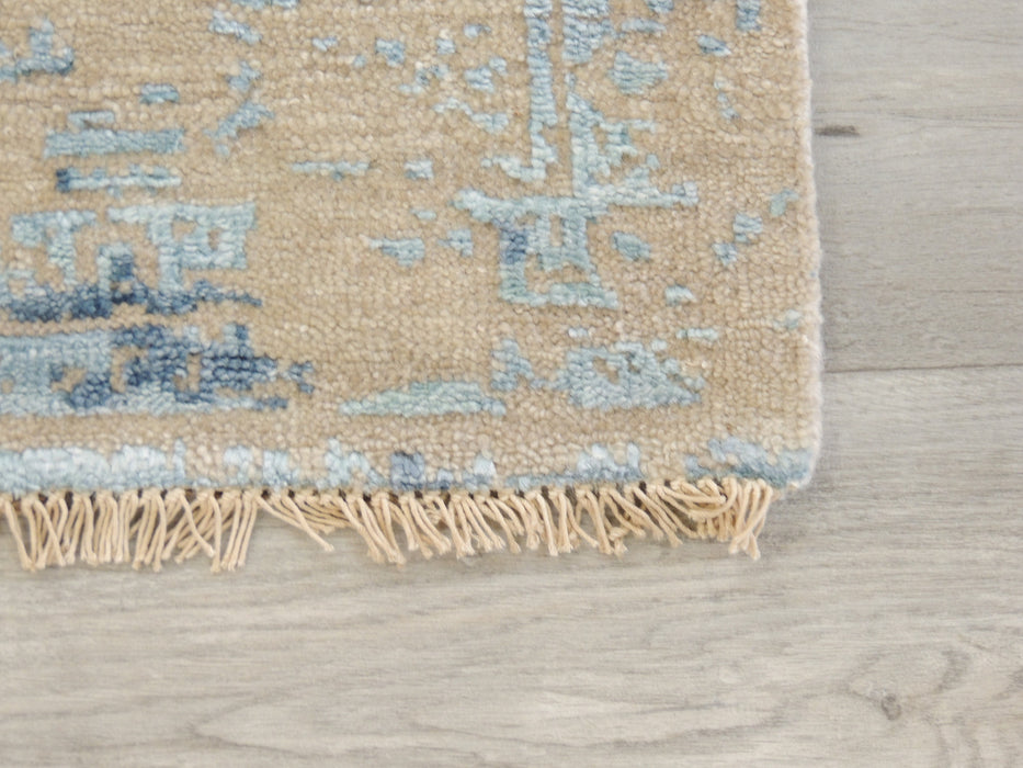 Spectacular Bamboo Silk Hand Knotted Erased Design Size: 240 x 170cm-Bamboo Silk-Rugs Direct