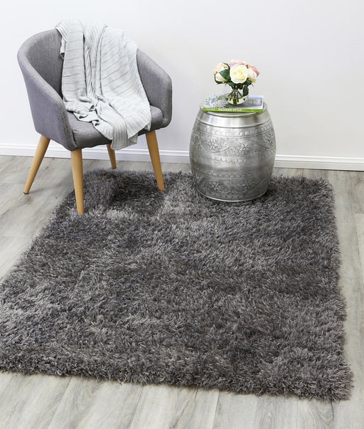 Charcoal Turkish Shaggy Rug