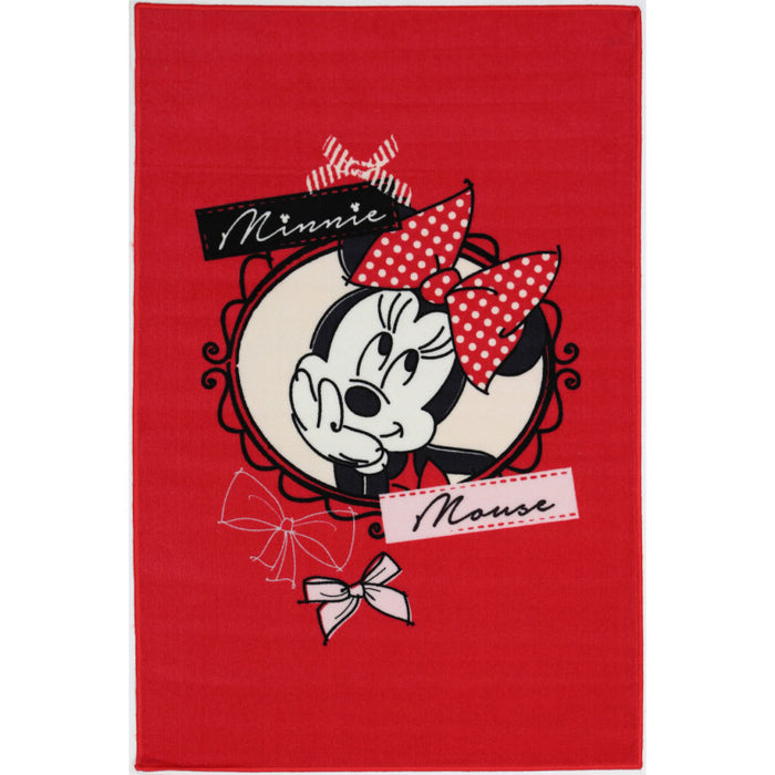 "Kids Mat ""MINNIE POLKA DOT"" Size: 100 x 150cm"
