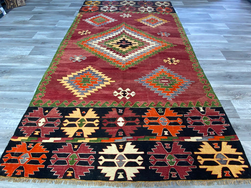 Vintage Hand Made Turkish Kilim Rug Size: 330 x 185cm