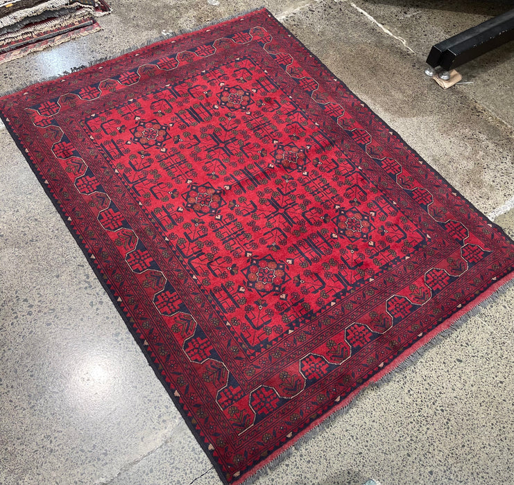 Afghan Hand Knotted Khal Mohammadi Rug 152 x 196cm