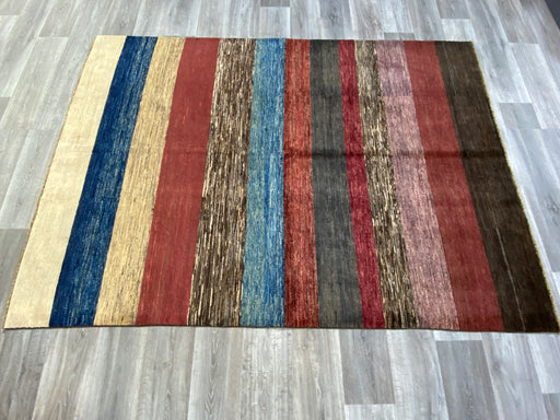 Afghan Hand Knotted Modern Design Choubi Rug Size: 238 x 169cm