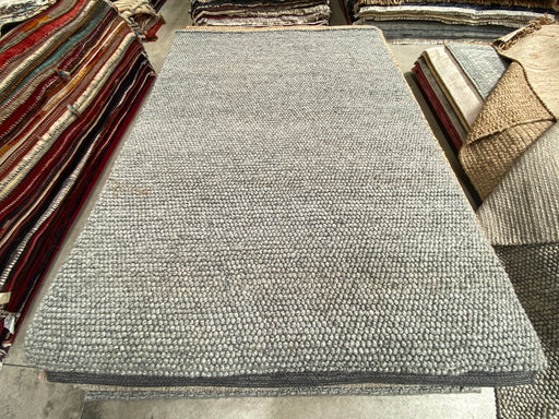 100% Wool Chunky Loop Pile Grey Colour Rug