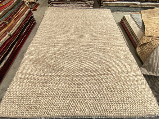 100% Wool Chunky Loop Pile Beige Colour Rug