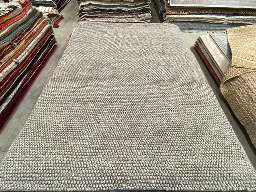 100% Wool Chunky Loop Pile Sand Colour Rug