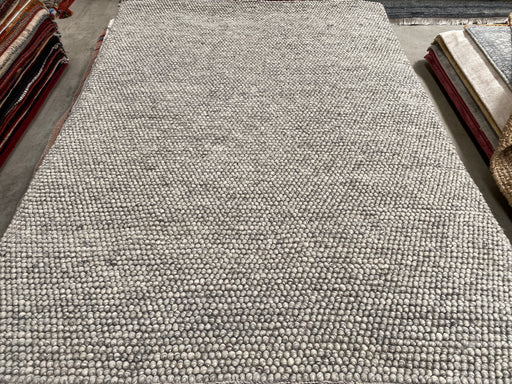 100% Wool Chunky Loop Pile Ash Colour Rug