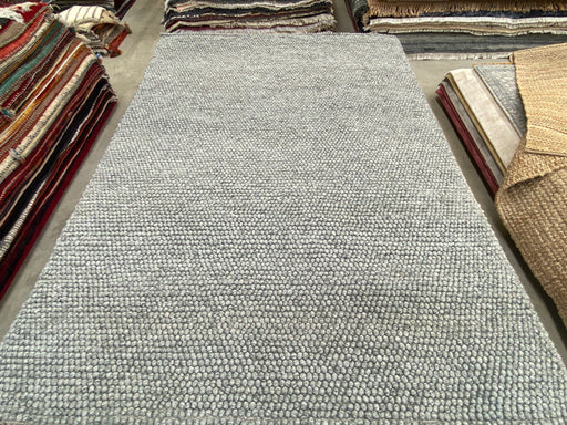 100% Wool Chunky Loop Pile Light Grey Colour Rug