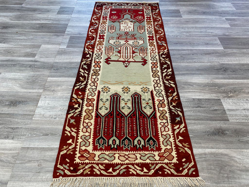 Beautiful Vintage Turkish Prayer Kilim Runner Size: 213 x 82cm