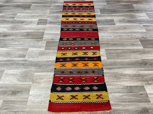 Vintage Hand Made Sivas Turkish Kilim Runner Size: 245 x 65cm