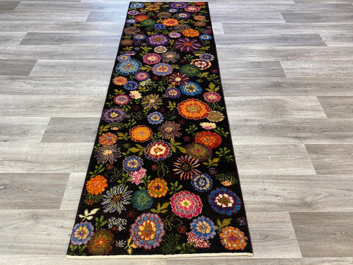 Authentic Persian Hand Knotted Floral Gabbeh Runner Size: 242 x 77cm