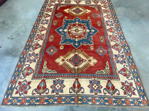 Afghan Hand Knotted Kazak Rug Size: 201 x 281cm