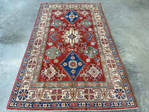 Afghan Hand Knotted Kazak Rug Size: 145 x 242cm