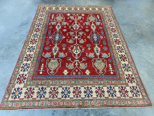 Afghan Hand Knotted Kazak Rug Size: 190 x 259cm