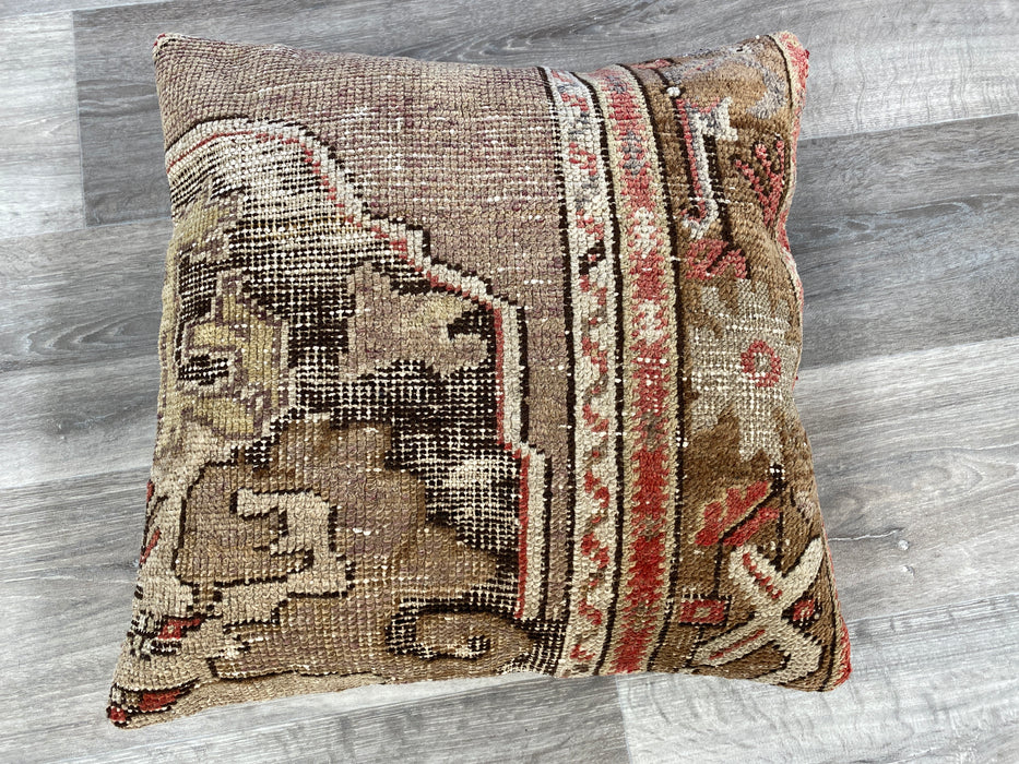 Turkish Hand Made Vintage Rug Cushion