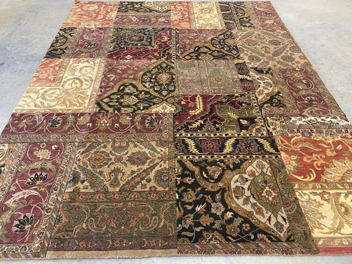 Hand Knotted Patchwork Design NZ Wool Rug Size: 243 x 303cm