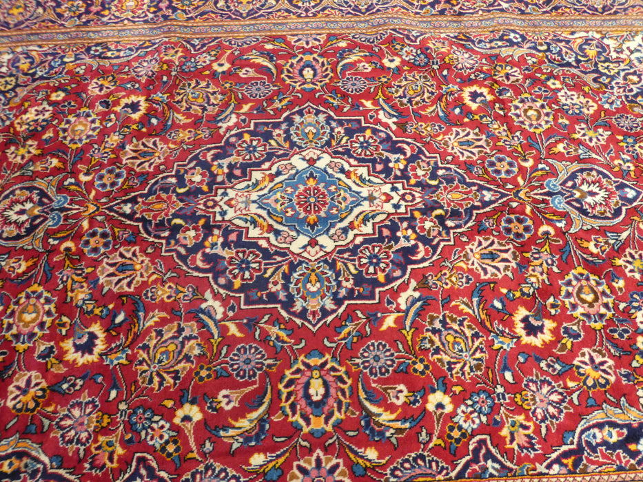 Persian Hand Knotted Kashan Rug Size: 310 x 200cm-Persian Rug-Rugs Direct