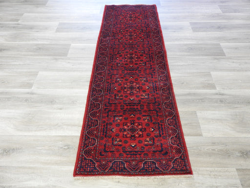 Afghan Hand Knotted Khal Mohammadi Runner Size: 205 x 68cm