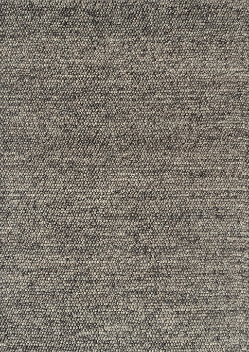 100% Wool Chunky Loop Pile Steel Grey Colour Rug