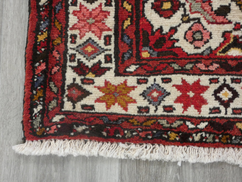 Persian Hand Knotted Hosseinabad Rug Size: 110 x 153cm-Persian Rug-Rugs Direct