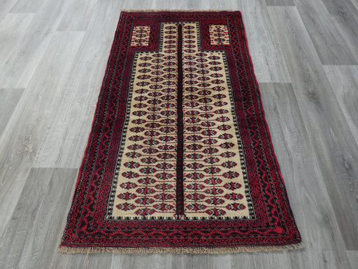 Persian Hand Knotted Prayer Rug Size: 77 x 140cm-Prayer Rug-Rugs Direct