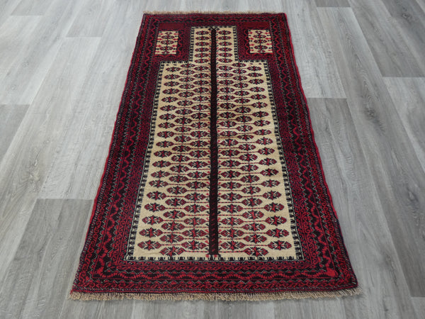 Persian Hand Knotted Prayer Rug Size: 77 x 140cm