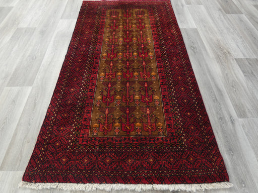 Persian Hand Knotted Baluchi Rug Size: 105 x 200cm