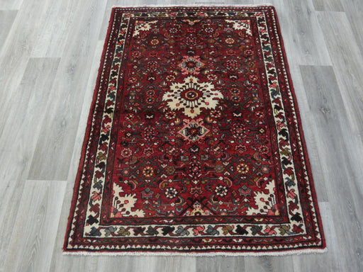 Persian Hand Knotted Hosseinabad Rug Size: 110 x 153cm-Persian Hamedan Rug-Rugs Direct