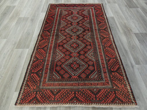 Persian Hand Knotted Baluchi Rug Size: 118 x 197cm