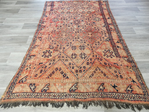 Vintage Tribal Moroccan Atlas Zayane Antique Rug Size: 252 x 168cm-Moroccan Rug-Rugs Direct