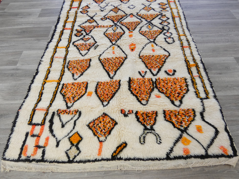 Vintage Tribal Moroccan Atlas Rug Beni Ouarain Size: 319 x 148cm-Moroccan Rug-Rugs Direct