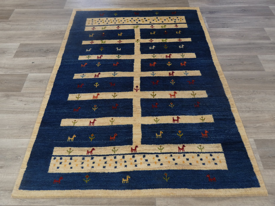 Authentic Persian Hand Knotted Gabbeh Rug Size: 194 x 149cm