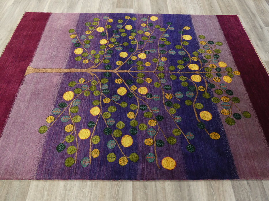 Authentic Persian Hand Knotted Gabbeh Rug Size: 235 x 167cm-Persian Gabbeh Rug-Rugs Direct