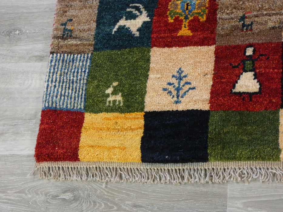 Authentic Persian Hand Knotted Gabbeh Rug Size: 199 x 152cm-Persian Gabbeh Rug-Rugs Direct