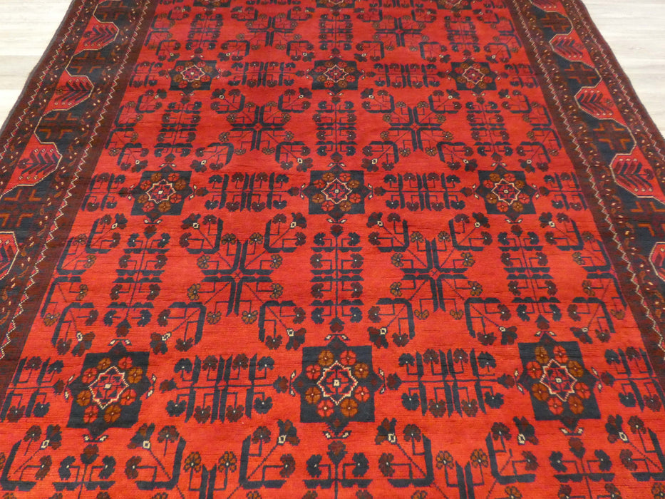 Afghan Hand Knotted Khal Mohammadi Rug Size: 290 x 196cm-Afghan Rug-Rugs Direct