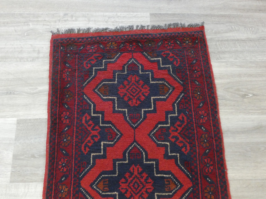 Afghan Hand Knotted Khal Mohammadi Doormat Size: 97 x 54cm
