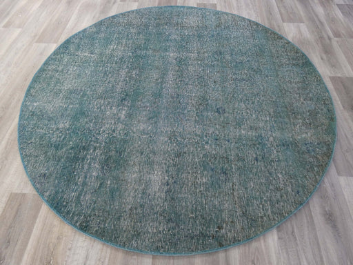 Vintage Handmade Persian Overdyed Round Rug Size: 216 x 216cm-Overdyed Rug-Rugs Direct