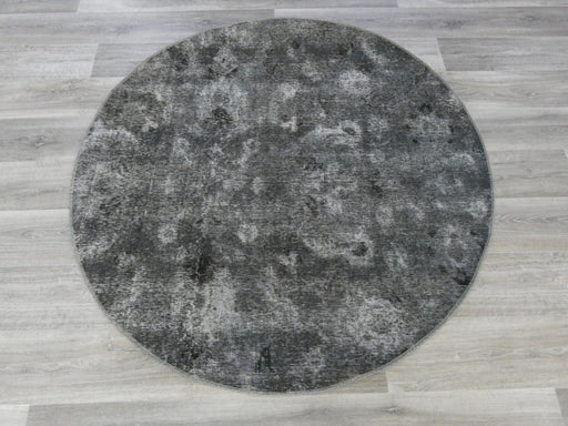 Vintage Handmade Persian Overdyed Round Rug Size: 152 x 152cm-Overdyed Rug-Rugs Direct