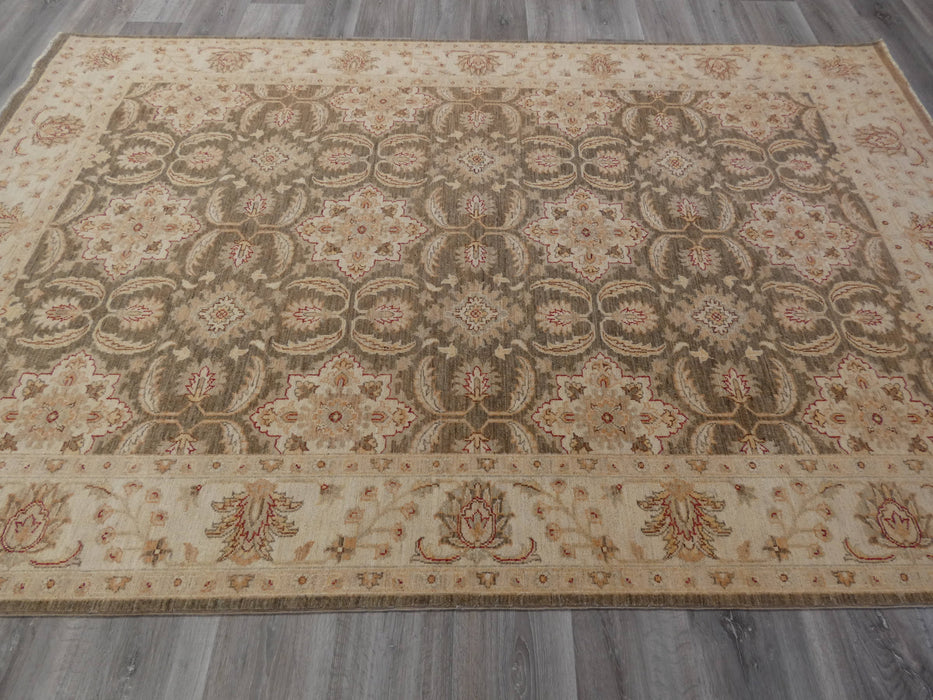 Afghan Hand Knotted Choubi Rug Size: 177 x 278cm