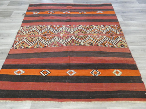 Hand Made Turkish Kilim Rug Size: 200 x 180cm