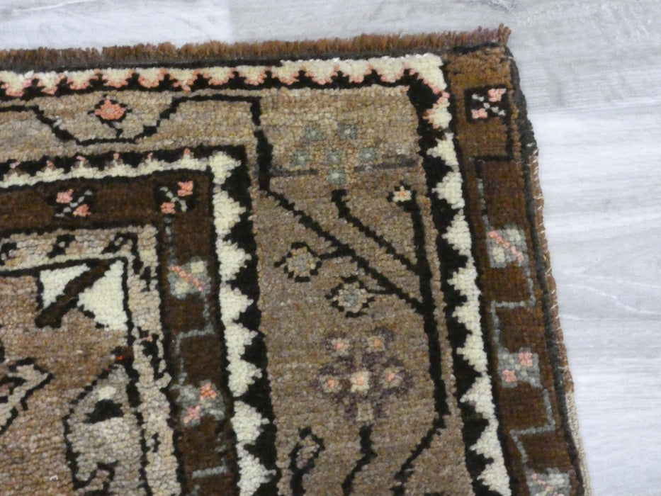 Vintage Anatolian Hand knotted Runner Size: 355 x 127cm