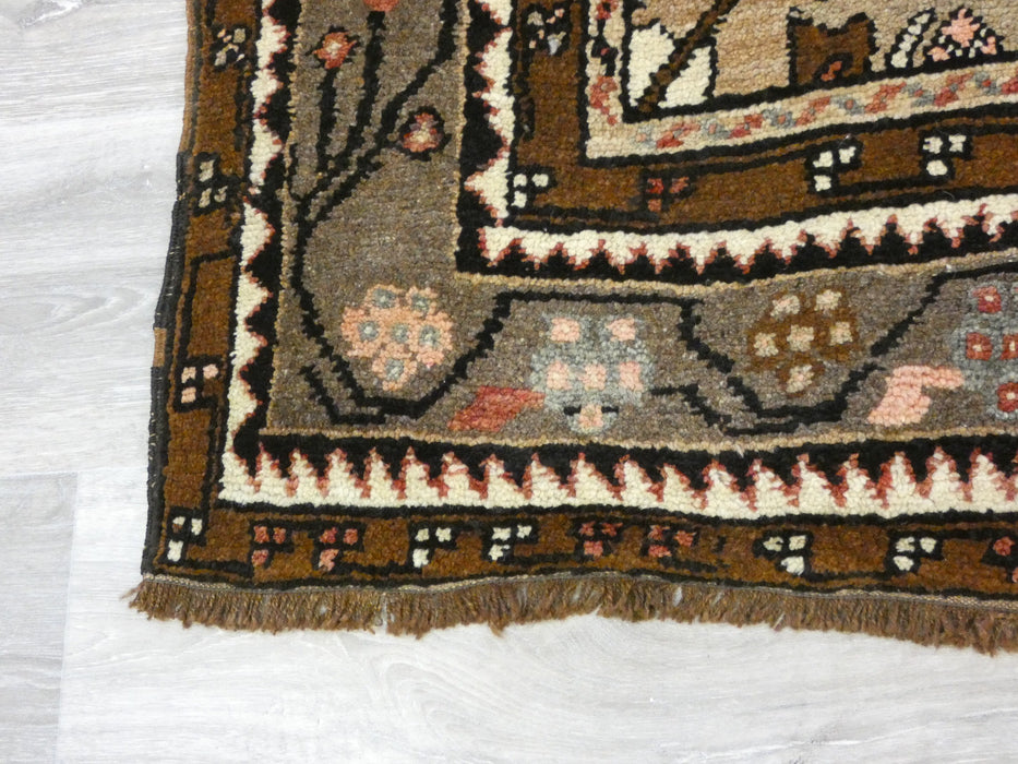 Vintage Anatolian Hand knotted Runner Size: 355 x 127cm-Vintage Runner-Rugs Direct