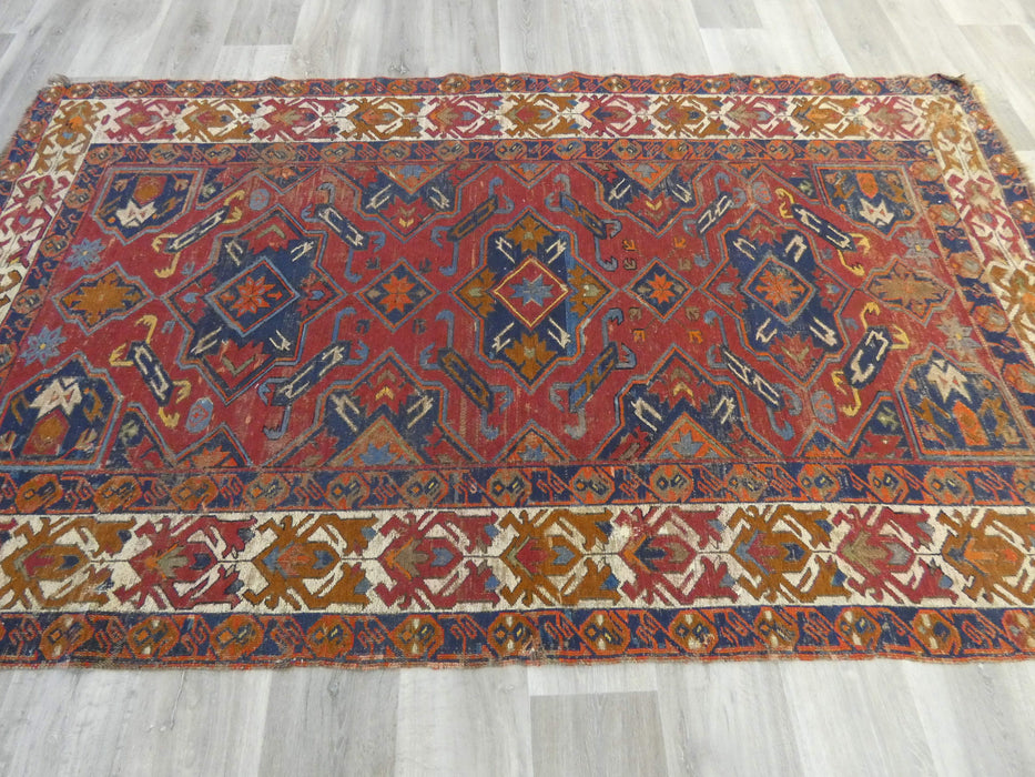 Antique Caucasian Turkish Kilim Rug Size: 255 x 150cm