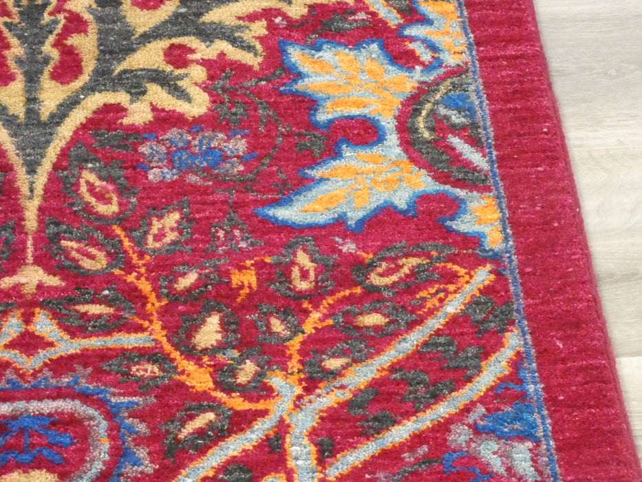 Afghan Hand Knotted Choubi Rug Size: 261 x 187cm-Afghan Rug-Rugs Direct
