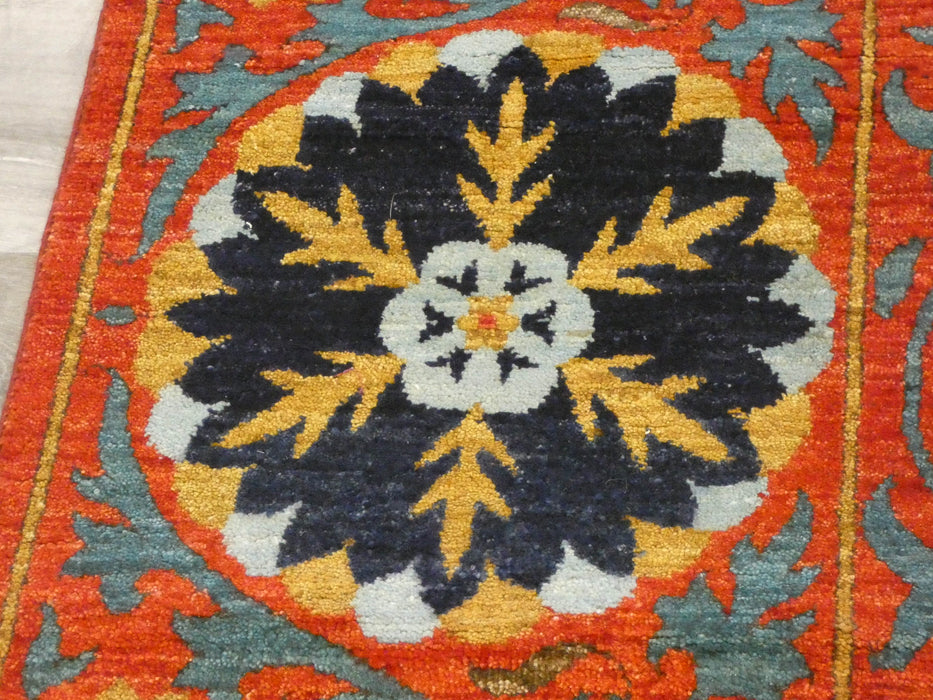 Afghan Hand Knotted Choubi Rug Size: 261 x 187cm