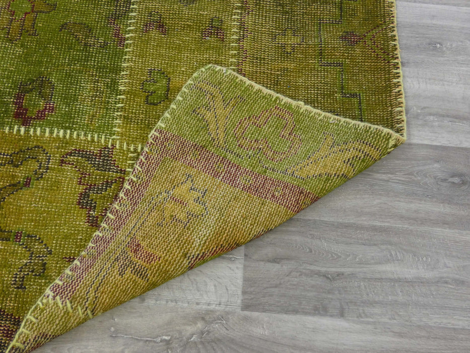 Patchwork Citron Coloured Rug-Patchwork Rug-Rugs Direct